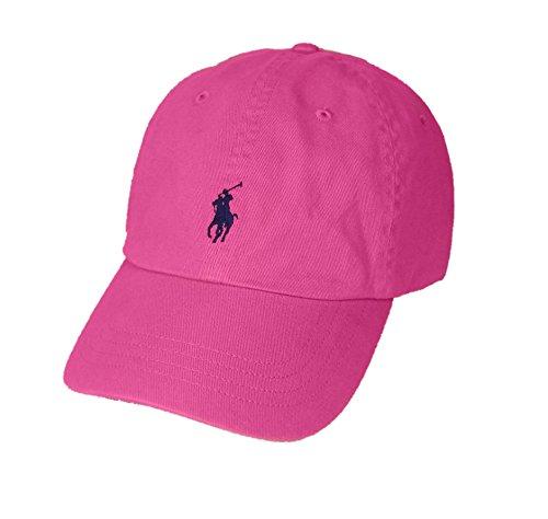 Polo Ralph Lauren Pony Logo Hat Cap Maui Pink with Navy Pony