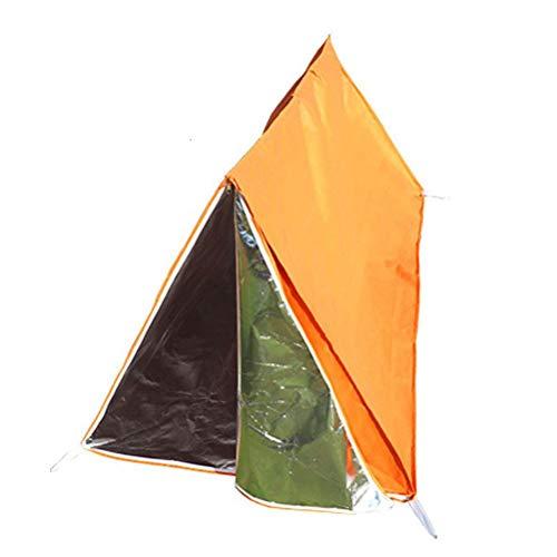 HWCP.CP Notfall-Zelt Für Outdoor-Camping Bietet Notfall-Überleben Nicht-Gewebte Zelte Orange Größe 100 × 100 × 200 cm