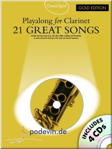 21 Great Songs - Playa Long For Clarinet - Gold Edition - Clarinetto Noten [Note musicali]