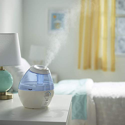 Vicks VUL520WC Filter-Free Ultrasonic Cool Mist Humidifier, Mini/Small Humidifier for Baby, Bedroom, Office Desk, 1.9L/0.5Gal