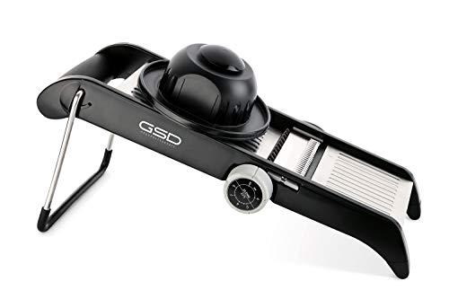 G S D Haushaltsgeräte 30061 Profi Mandoline, Edelstahl, schwarz