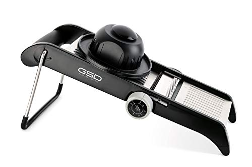 G S D Haushaltsgeräte 30061 - Mandolino professionale in acciaio INOX, colore: Nero