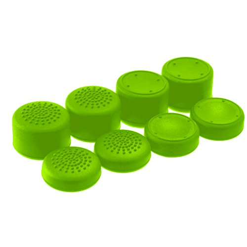 AceShot Thumb Grips (8pc) for Xbox One (Series X, S) by Foamy Lizard – Sweat Free 100% Silicone Precision Raised Antislip Rubber Analog Stick Grips For Xbox One Controller (8 grips) GREEN