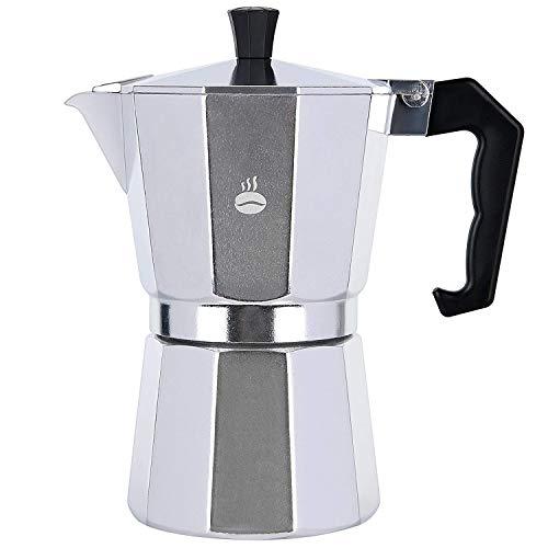 Magifft Stovetop Espresso Maker, Aluminum Italian Moka Pot Coffee Maker 6-Cup(9 Oz)