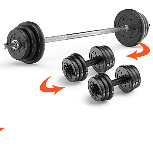 gewichtheffen barbell halter set klein gat bedekt rubber barbell stuk gebogen staaf rechte staaf bel squat bar thuis fitnessapparatuur