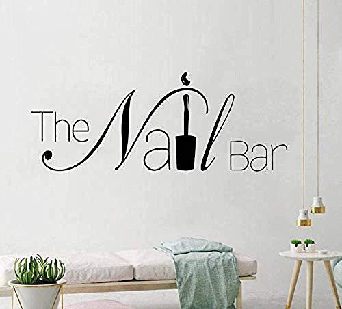 Die Nagel Bar Logo Wand Fenster Aufkleber Design Maniküre Aufkleber Abnehmbare Nail Art Poster Wandbild Schönheit 57x22cm