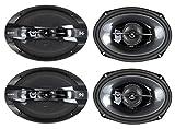 4) New Sony XS-GT6938F 6x9' 840 Watt 3-Way Car Coaxial Speakers Stereo XSGT6938F