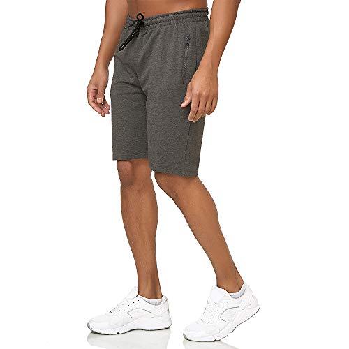 Smith & Solo Sporthose Herren Kurz - Kurze Hosen Herren, Laufshorts Männer Sommer Baumwolle Jogginghose Fitnesshose Sport Sportshorts Bermuda Shorts Hose Trainingshose Tennis (L, Anthrazit)