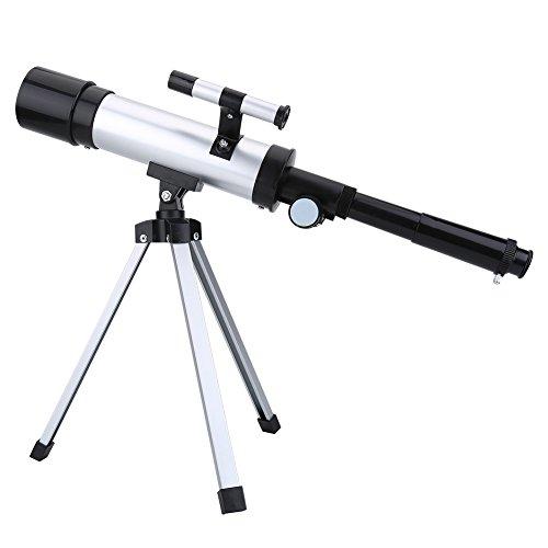 Bewinner Hochauflösendes 90X Monokular-Teleskop Astronomisches Refraktives Weltraum-Refraktorteleskop Tragbares Teleskop mit Aluminium-Stativ, großartiges Zubehör für astronomische Enthusiasten