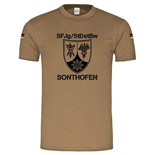 Copytec BW Tropics SFJg-StDstBw Schule für Feldjäger und Stabsdienst Wappen # 17482, Größe:XL, Farbe:Khaki