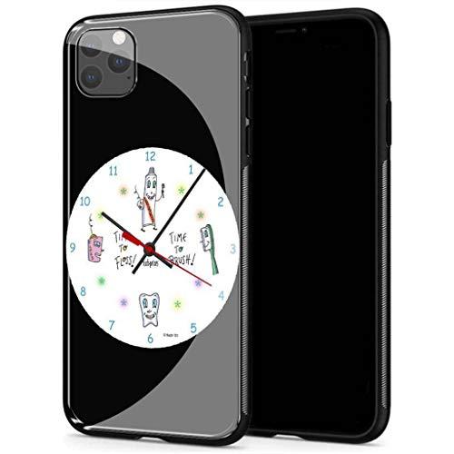 YINZONGSTORE iPhone 12 Funda, Cubierta Trasera de Vidrio Templado, Silicona Suave, Compatible con iPhone 12 AMA-55 Nurse Dentist
