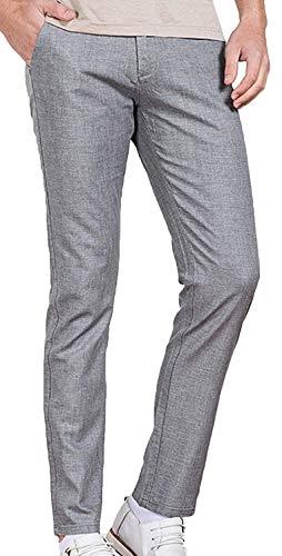Mieuid heren losse broek stoffen broek vrije tijd uit trekkoord chic lang slim fit linnen broek broek broek broek broek