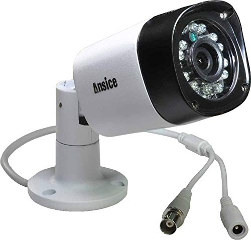 Ansice CCTV Camera(White) Day Night Infrared Wide Angle 2.8mm 1000tvl Cmos with Ir-Cut Bullet Security Camera CCTV Home Surveillance Outdoor 24 LEDs