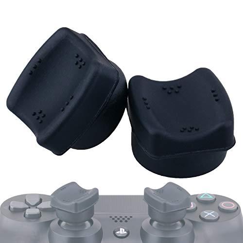 YoRHa THUMB FIT Joystick-Kappene Thumbstick Griffe Thumb Grip Aufsätze(Schwarz) 2 Einheiten für Playstation 4 (PS4) / Dualshock 4 Controller