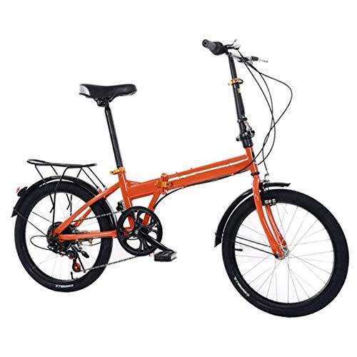 WLGQ Mini Bicicleta Plegable Ligera de 20 Pulgadas, Bicicleta Ultraligera de Velocidad Variable, pequeña Bicicleta portátil, Bicicleta de Carretera para Estudiantes