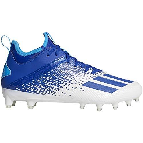 adidas Adizero Scorch Cleat - Fútbol para hombre, Azul (Blanco-azul real.), 44.5 EU