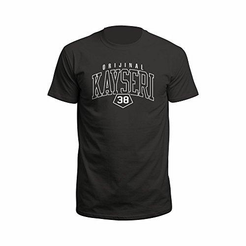Kayserie 38 Türkei Türkiye T-Shirt Shirt Euro-Fit schwarz Wunschdruck (M)