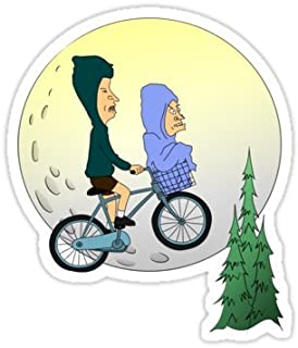Beavis and Butthead Et (Size W8 x H9.4 Centimeter) Car Motorcycle Bicycle Skateboard Laptop Luggage Vinyl Sticker Graffiti Decal Bumper Sticker By August999