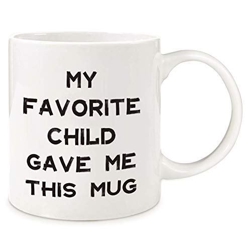 Innge Gifts for Mom Mothers Day Gifts for Mother Grandma Dad from Daughter SonFunny Coffee Mug Tea Cup: My Favorite Child Gave Me This Mug Mother#039s Day Birthday Christmas Gifts for Women MenampHer Him
