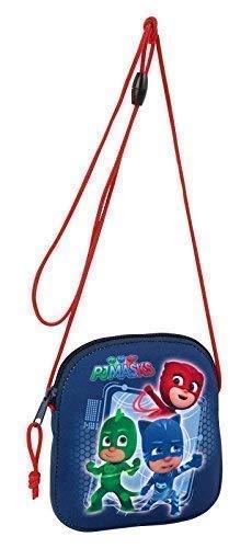 PJ Masks - Pyjamahelden - Brusttasche/Brustbeutel mit Kordelzug; 16 cm x 14 cm; blau, rot, grün; Safta (611717606)