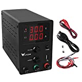 Flycow DC Power Supply Variable, Adjustable 30V 10A Switching DC Regulated Power Supply with 3 Digit...