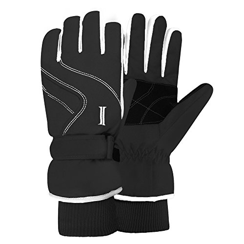IGLOOSBUILT Ladies Waterproof Ski Gloves – Insulated for Cold Outdoor Winter Weather