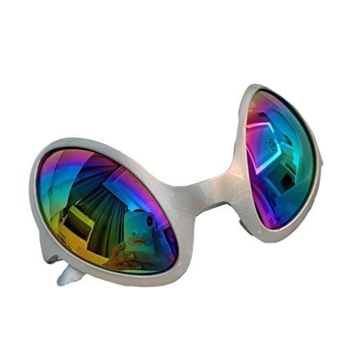 nobrand Wunderbares und doch praktisches Geschenk 3 Stück Neuheit Brille Multicolor Alien Sonnenbrille Partei-Bevorzugungen Für Erwachsene Und Kinder (Color : Silver)