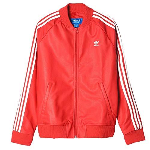 adidas Damen 3-Stripes JKT Sweatshirt, Rot, Größe 36