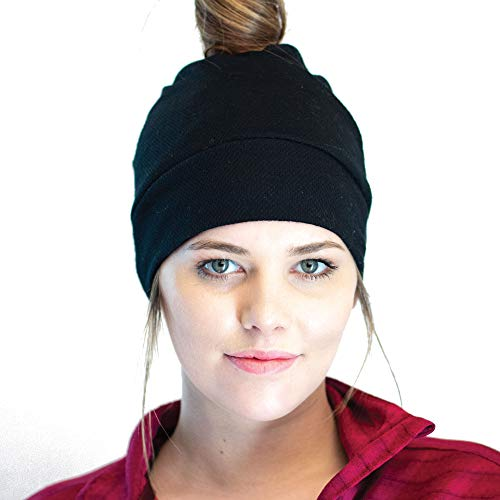 Red Dust Active Merino Wool Beanie - Winter Headwear - Perfect for Cold Weather Adventures Black