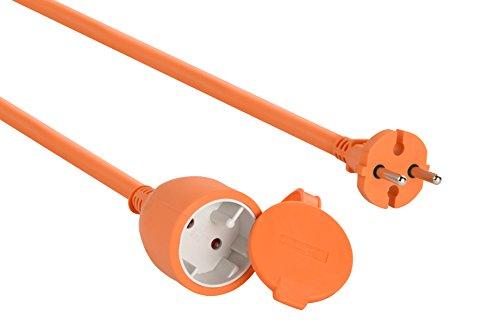 Electraline 101541 Cable alargador eléctrico para jardín, Rosa, 15 M