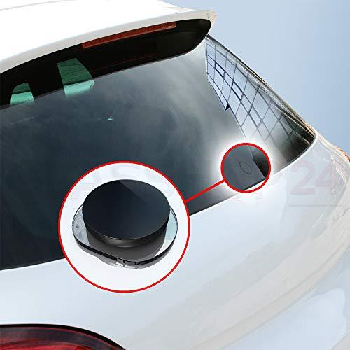 BIJON Heckwischer Stopfen für Audi - ECHT-Glas, Scheibenwischer Abdeckung - Glasstopfen Audi Zubehör mit Kleber (A3 Modell 8P (Bj. 2003-2005)