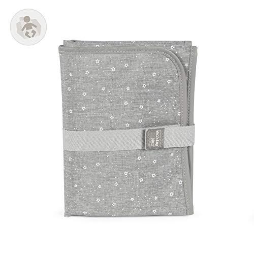 Walking Mum. Cambiador de Bebé Dreamer. Diseño portátil y plegable. Fácil de guardar en el bolso maternal. Color Gris. Medidas 33 X 66 X 1 cm.