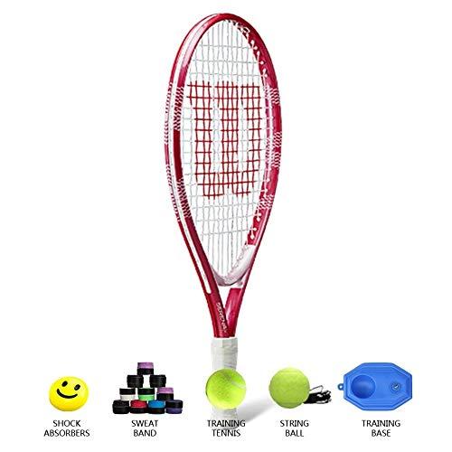 Raquetas De Tenis para Adolescentes Raqueta De Tenis para Niños De 19 A 2-4 Años Raqueta De Tenis De Entrenamiento Individual para Hombres Y Mujeres Material De Aleación,Red