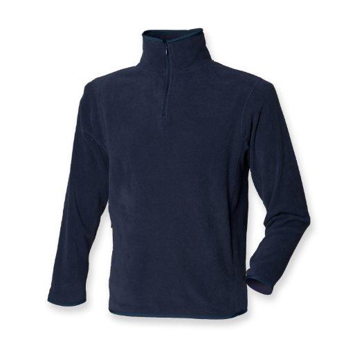 Henbury 1/4 Zip Fleece léger intérieure marine 2XL