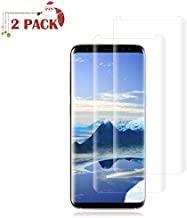 [2 Pack] Galaxy S8 Plus Screen Protector [9H Hardness][Anti-Scratch][Anti-Bubble][3D Curved] [High Definition] [Ultra Clear] Tempered BBInfinite Compatible Samsung Galaxy S8 Plus