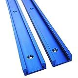 HilMe - Guías de inglete para Mesa Deslizante portátil de aleación de Aluminio Profesional para carpintería en T (400 mm), Color Azul, No nulo, Azul, 400 mm