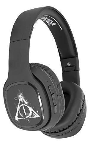 OTL Technologies TWEEN Bluetooth Kopfhörer Harry Potter Deathly Hallows (faltbar, gepolsterte Bügel, stylisches Comic Design, 30 Stunden Akkulaufzeit, für Jugendliche und Erwachsene), Schwarz