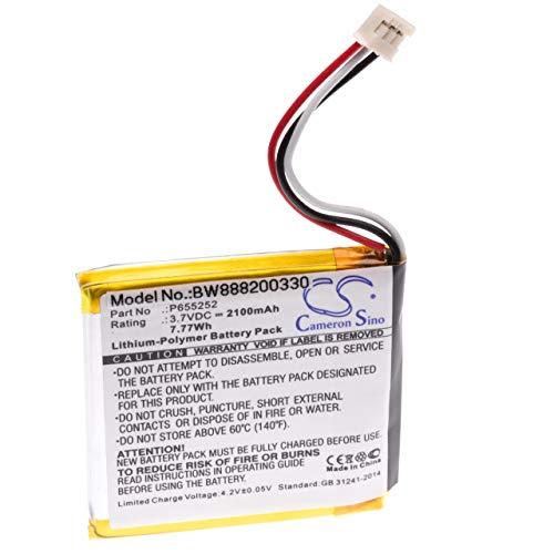 vhbw Akku Ersatz für Harman Kardon P655252 für Lautsprecher Boxen Speaker (2100mAh, 3.7V, Li-Polymer)