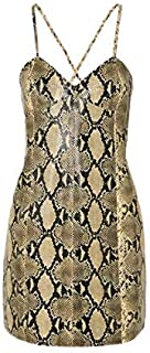 Mini abito in pelle effetto serpente