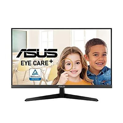 "ASUS VY279HE 27"" Eye Care Monitor, 1080P Full HD, 75Hz, IPS, 1ms, Adaptive-Sync/FreeSync, Eye Care Plus, Color Augmentation, HDMI VGA, Frameless, VESA Wall Mountable, Black"