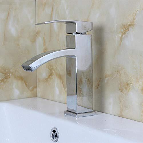 DoudoWarm en koud bekken waterkraan hot en koud bekken waterkraan enkele greep montage in één opening onder opzetbekken badkamerkast