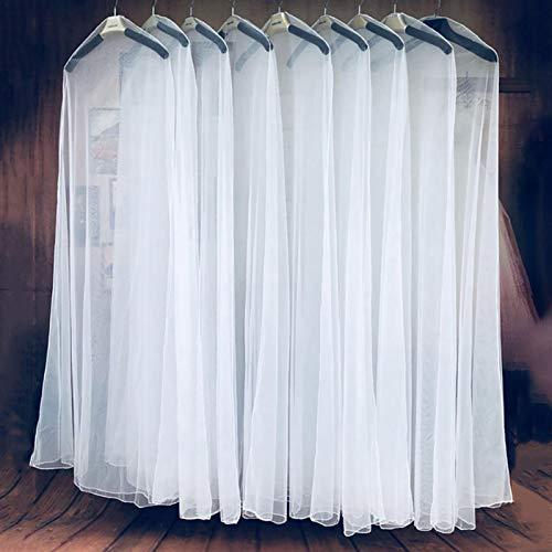 Kleidersack Transparent Kleiderhülle Kleiderschutz Schutzhülle für Brautkleider/Abendkleider/Anzüge/Mäntel, Langer Reissverschluss - 200cm