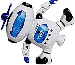 WEofferwhatYOUwant Dancing Robot Toy for Children with Flashing Lights and Dance Music