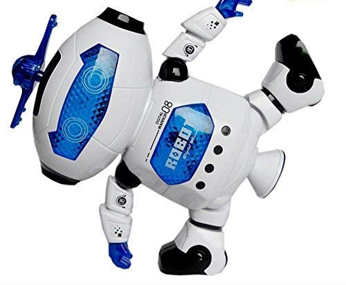 WEofferwhatYOUwant Dancing Robot Toy for Children   Electronic Walking Spinning   Arms and Legs Movement for Toddlers with Flashing Lights and Dance Music   for 3 Years and up
