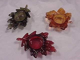 Fall Harvest Leaf Candle/Tea Light Holders Set of 3