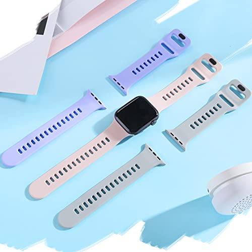 Financingpig コンパチブル Apple Watch バンド シリコン3本セット