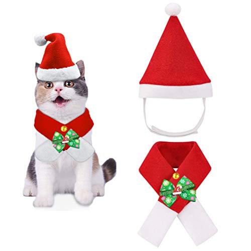 Pañuelo de cabeza para mascotas, Bandana Perro de Navidad, Pañuelo de Navidad de Perro, Disfraz para Mascota, Pañuelo para Perro Navidad, Baberos para Mascotas, pañuelos para disfraz de perro y gato