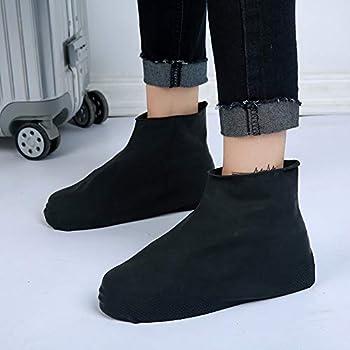 2PCS S/M/L Waterproof Reusable Rubber Shoe Covers Rain Boot Overshoes