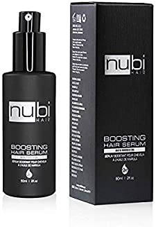 Nubi Boosting Hair Serum with Marula Oil, Vitamin E and Aloe Vera, 2 Fl. Oz./ 60 Ml