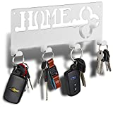 Decorative Key Rack | Modern Key Rack 4 Hooks | Keyring Holder | Hanging Coat Key Holder with Hooks | Wall Key Rack | Forgetting is Normal. Stop Losing Your Keys with Our Solution.
